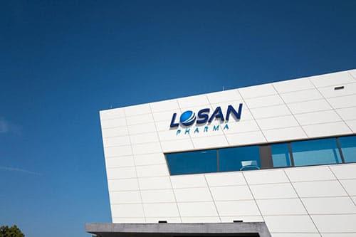 Losan Pharma Verpackungsgebäude in Eschbach